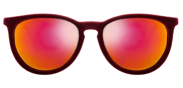 Vincent Chase Alese AL 9053R Maroon Yellow Mirror W01-655 Velvet Wayfarer Sunglasses