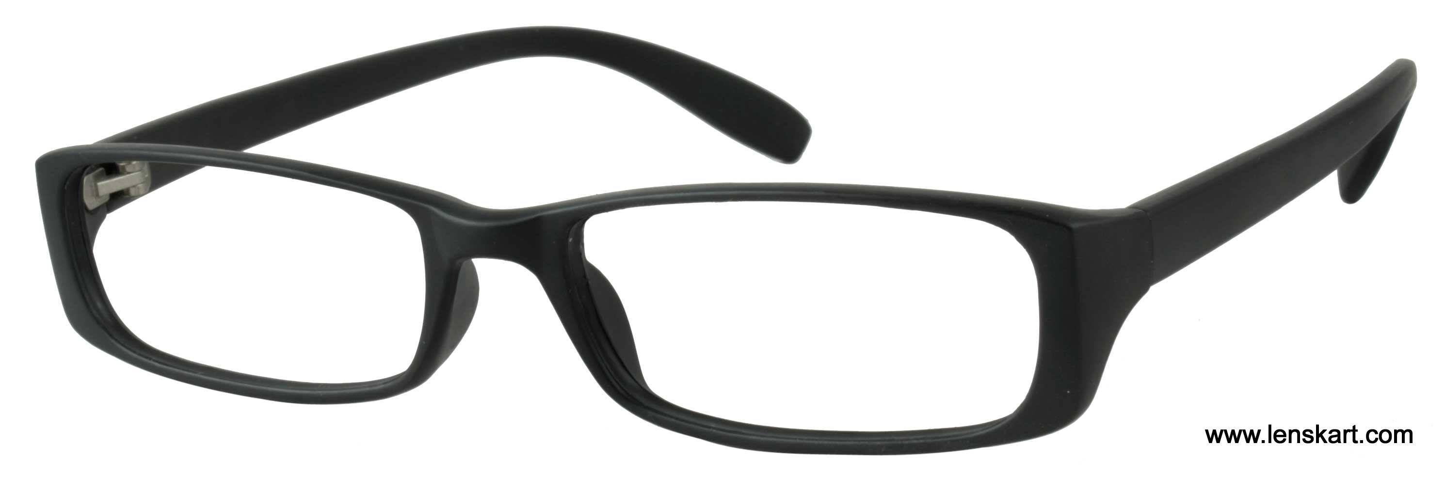 Half Frame Glasses Lenskart : LensKart Optima A904 Black Eyeglasses at LensKart.com @ Rs.399